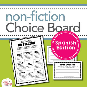 Non-Fiction Choice Board Activity ***Spanish Edition***