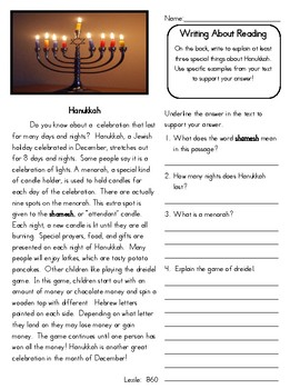 3rd 4th 5th Grade Non Fiction Close Reading Christmas Holidays Around the World
