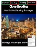 3rd 4th 5th Grade Non Fiction Close Reading Christmas Holi