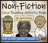 Non-Fiction Collection Volume II - 5th Grade & 6th Grade Close Reading Book