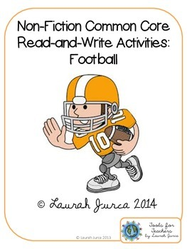 Non-Fiction Common Core Close Reading and Writing: Footbal