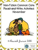 Non-Fiction Common Core Close Reading and Writing: November