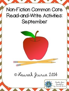 Non-Fiction Common Core Close Reading and Writing: September