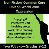 Non-Fiction Common Core Two Week Unit--Oppression