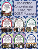 Non-Fiction Comprehension, Cloze, and DAZE Passages (Bundle One)