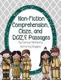 Non-Fiction Comprehension, Cloze, and DAZE Passages (Part One)