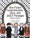 Non-Fiction Comprehension, Cloze, and DAZE Passages (Political Edition)