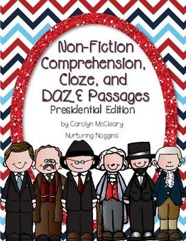 Non-Fiction Comprehension, Cloze, and DAZE Passages (Presi