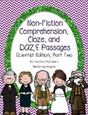 Non-Fiction Comprehension, Cloze, and DAZE Passages (Scientist Edition 2)
