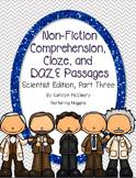 Non-Fiction Comprehension, Cloze, and DAZE Passages (Scientist Edition 3)