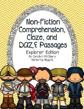Non-Fiction Comprehension, Cloze, and DAZE passages (Explorer Edition)