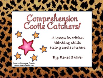 Non-Fiction Comprehension Fun With Cootie Catchers