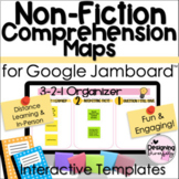 Non-Fiction Comprehension Map Templates for Google Jamboard™ Bundle