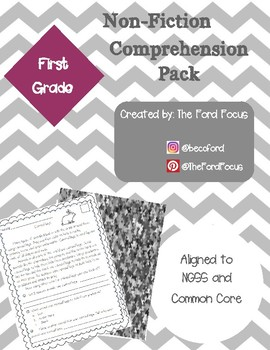 Science Non-Fiction Comprehension Pack--1st Grade