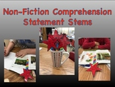Non-Fiction Reading Response Comprehension Sentence Stems