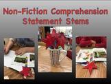 Non-Fiction Reading Response Comprehension Sentence Stems