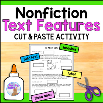 Non Fiction Text Features Cut And Paste By The Teaching