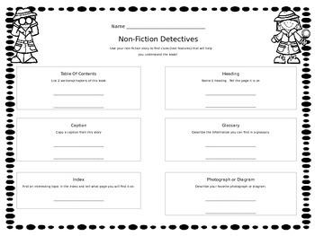 Non-Fiction Detectives - Finding Non-fiction Text Features