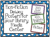 Non-Fiction Dewey Posters for Your Library Media Center - 100's/Colorful Dots