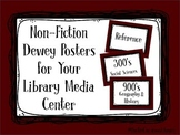 Non-Fiction Dewey Posters for Your Library Media Center - 100's/Maroon