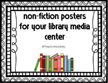 Non-Fiction Dewey Posters for your Library Media Center- Fancy Boarders