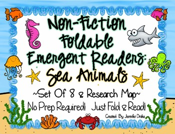 Non-Fiction Emergent Readers: Sea/Ocean Animals! ~Set of 8 PLUS Research Map!~