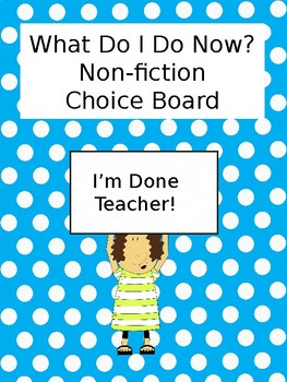 Non-Fiction Enrichment Choice Board