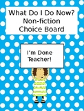 Non-Fiction Enrichment Choice Board
