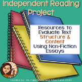 Non Fiction Essays Independent Reading Project