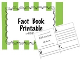 Non-Fiction Fact Book for Centers or Research