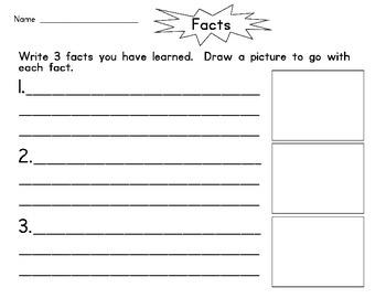Non-Fiction Fact Sheet