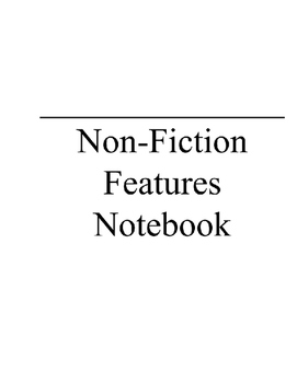 Non Fiction Features Notebook