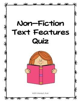 Non-Fiction Text Features Quiz