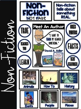 Non-Fiction & Fiction Genre Anchor Charts