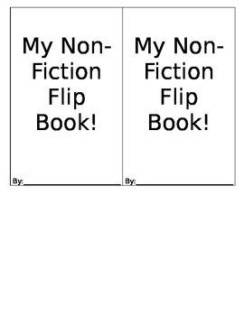Non-Fiction Flip Book