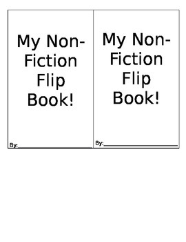 Non-Fiction Flip Book