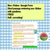 Non-Fiction:  Google Form Activity