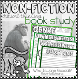 Non-Fiction Book Club Printable: Who Is Jane Goodall?