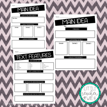 Text Structure, Text Feature, and Main Idea - Non-Fiction Read Aloud Guides