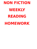 Non Fiction Homework