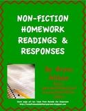 Non-Fiction Homework Readings & Responses