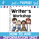 Non Fiction Information Unit Writing Templates and Charts bundle