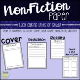 Non-Fiction (Information) Writing Paper {All About Cover,