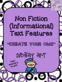 Non Fiction (Informational) Text Features Subway Art