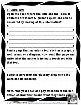 Non-Fiction / Informational Text Response Scavenger Hunt