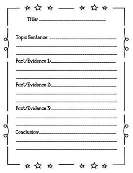 Non-Fiction Informational Text Template