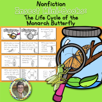 Non-Fiction Insect Mini-Books the Life Cycle of the monarch Butterfly