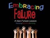 Non-Fiction Lesson: Embracing Failure