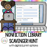 Nonfiction Library Scavenger Hunt Cards with QR Codes Printable and Digital