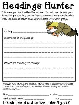 Non-Fiction Literature Circles Packet...Get a Clue! (Detective Theme)
